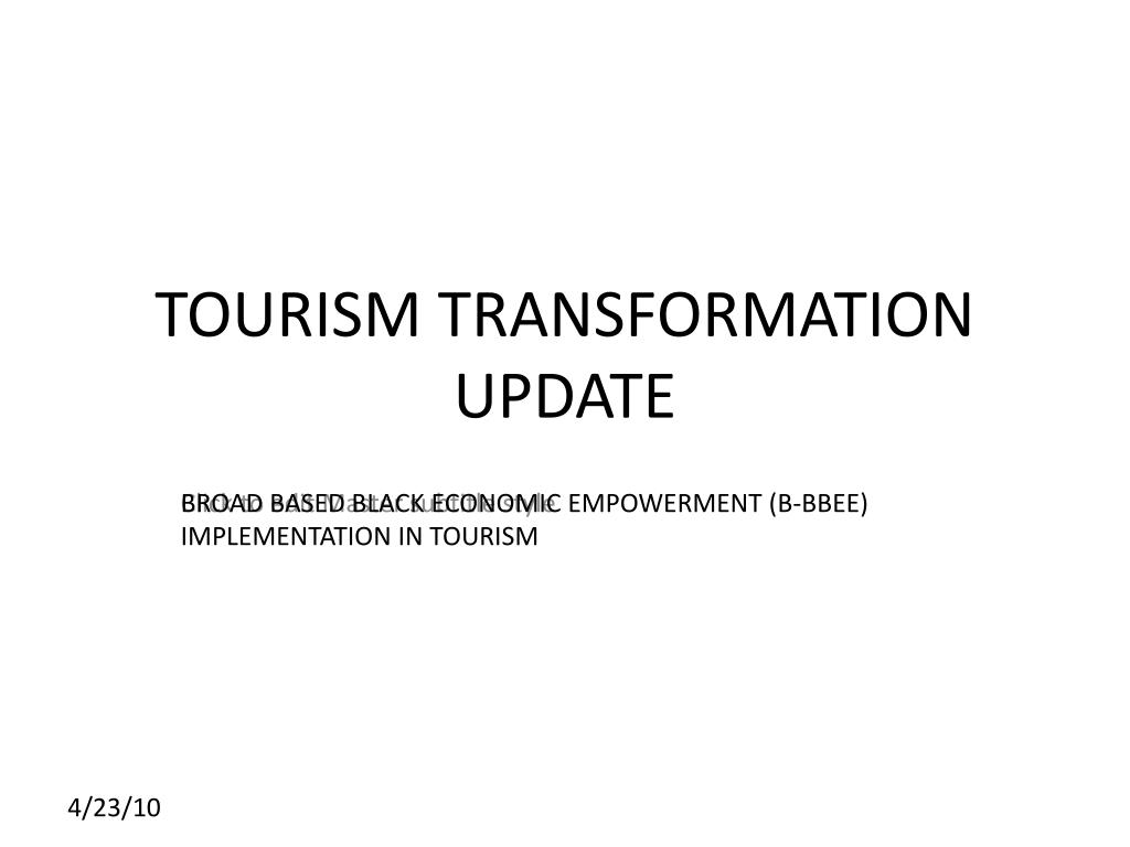 tourism transformation update l.