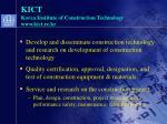 kict korea institute of construction technology www kict re kr9