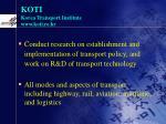 koti korea transport institute www koti re kr