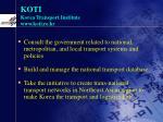 koti korea transport institute www koti re kr5
