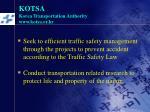 kotsa korea transportation authority www kotsa or kr