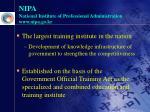 nipa national institute of professional administration www nipa go kr
