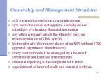 ownership and management structure