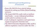 sacco legal and regulatory framework