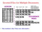 inverted files for multiple documents