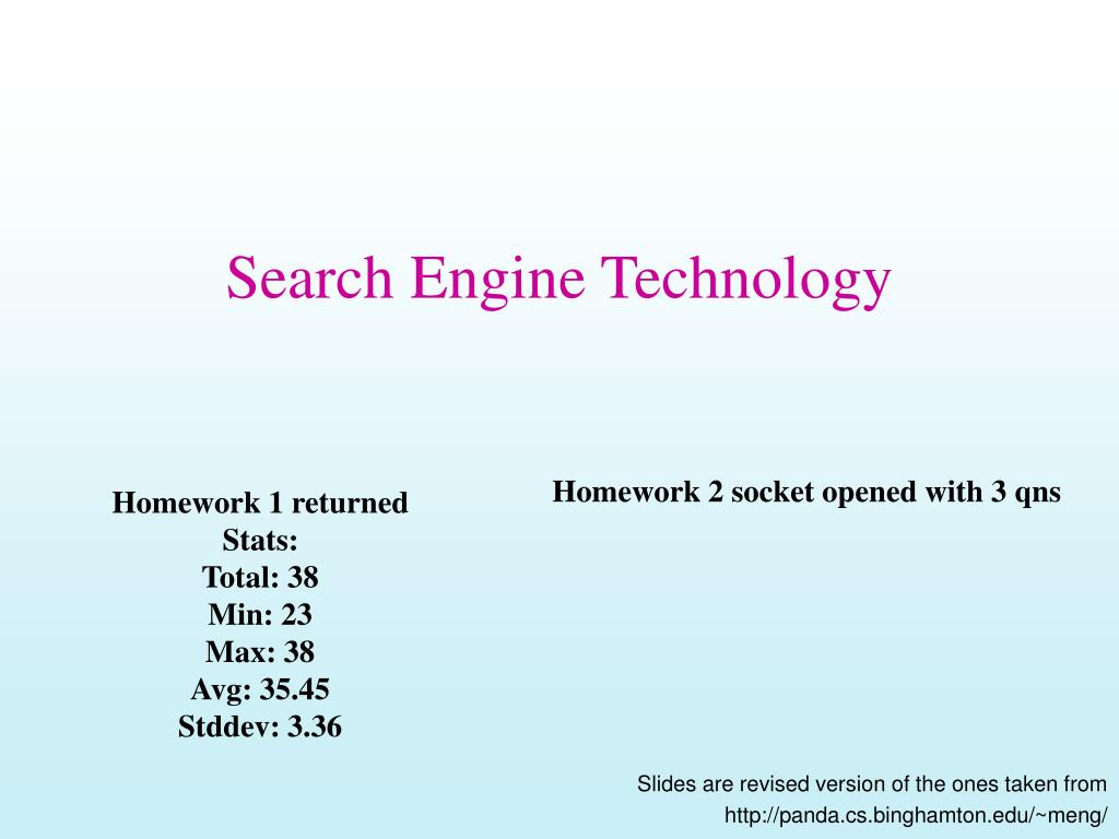 search engine technology l.
