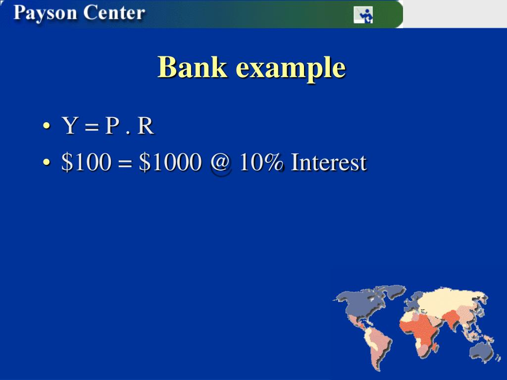 Bank example