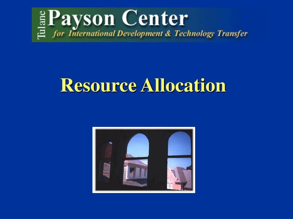 resource allocation l.