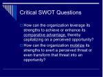 critical swot questions