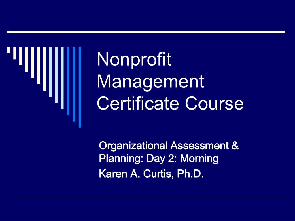 nonprofit management certificate course l.