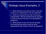 strategic issue examples 3