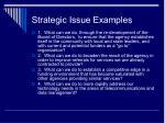 strategic issue examples
