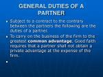 general duties of a partner