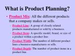 what is product planning7