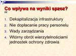 co wp ywa na wyniki spzoz 2 2