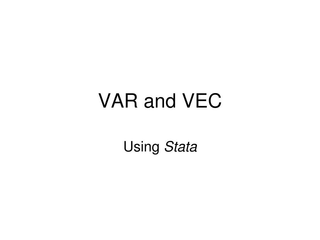 var and vec l.