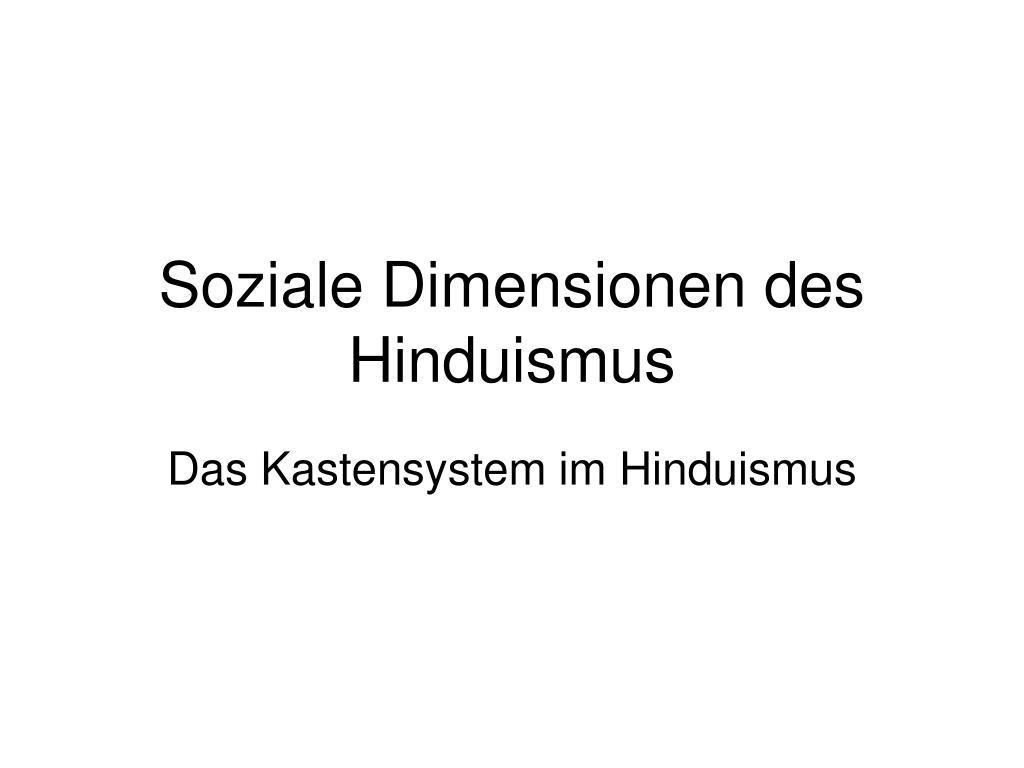 soziale dimensionen des hinduismus l.
