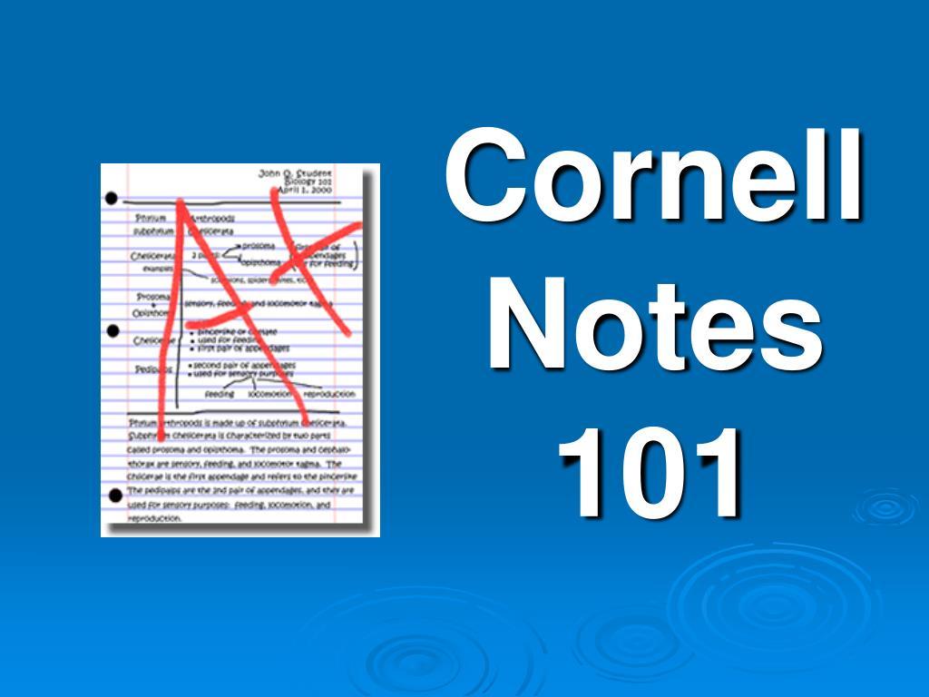 cornell notes 101 l.