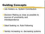 guiding concepts