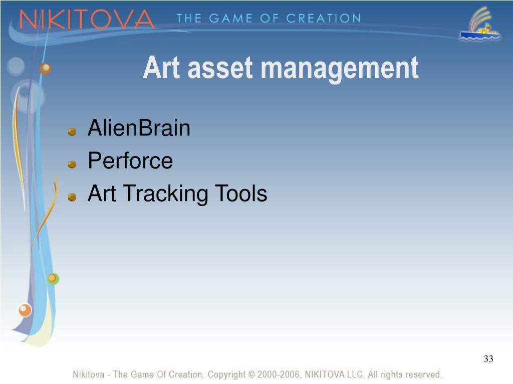 Art asset management