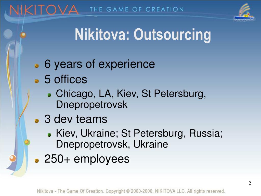Nikitova: Outsourcing