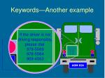 keywords another example9