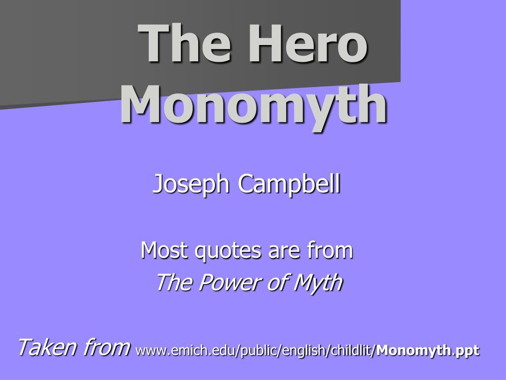 the hero monomyth l.