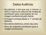 dados auditivos