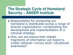 the strategic cycle of homeland security anser institute27