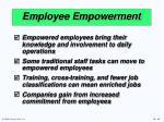 employee empowerment
