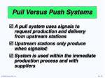 pull versus push systems