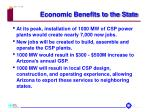 economic benefits to the state