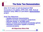 the solar two demonstration