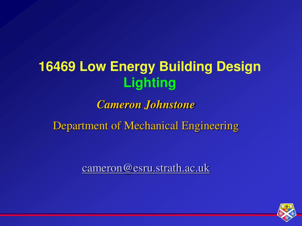 16469 low energy building design lighting l.