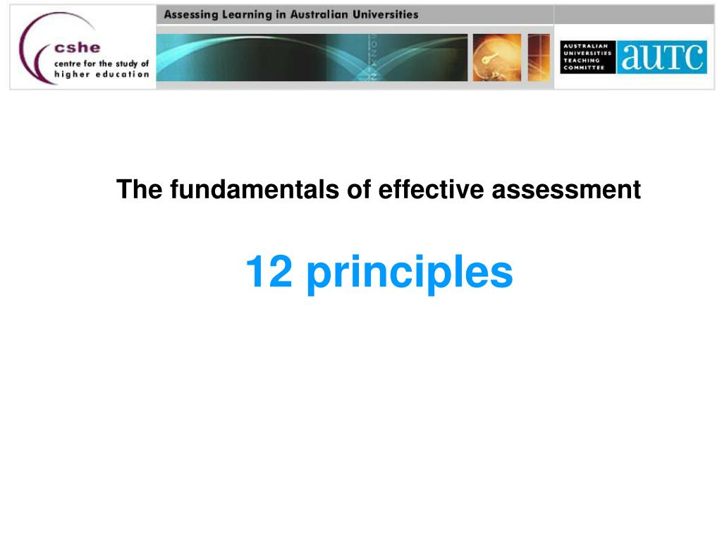 the fundamentals of effective assessment 12 principles l.