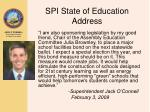 spi state of education address