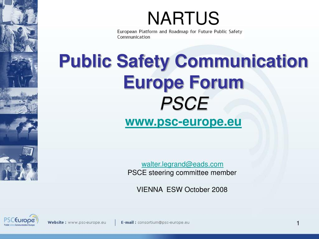 nartus public safety communication europe forum psce www psc europe eu l.