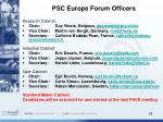 psc europe forum officers
