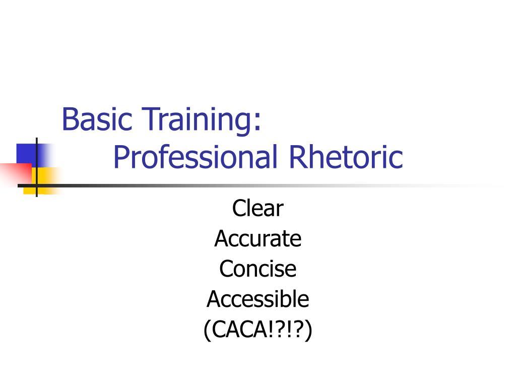 Basic Training: