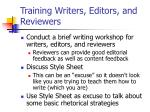 training writers editors and reviewers