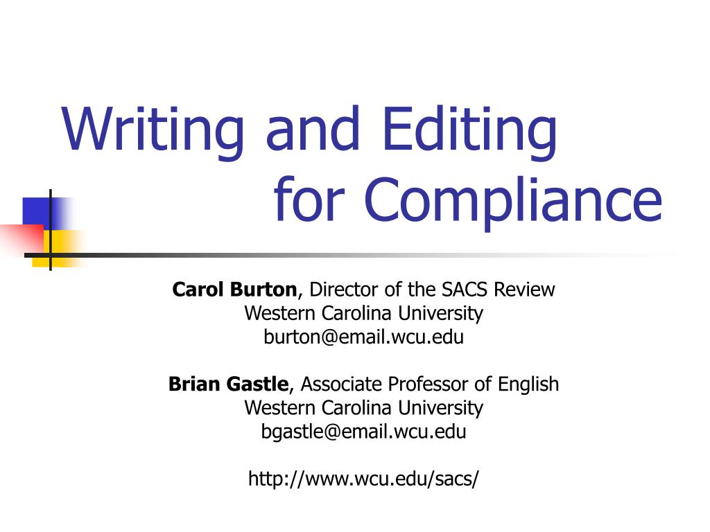 writing and editing for compliance l.