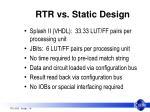 rtr vs static design