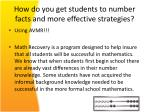 how do you get students to number facts and more effective strategies