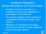 caribbean adaptation recommendations for future action