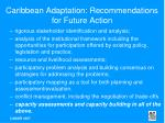 caribbean adaptation recommendations for future action50