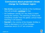 conclusions about projected climate change for caribbean region