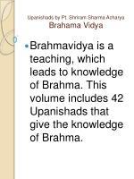 upanishads by pt shriram sharma acharya brahama vidya