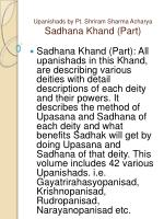 upanishads by pt shriram sharma acharya sadhana khand part