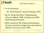 the kuali projects