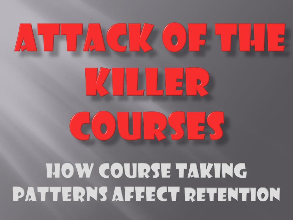 attack of the killer courses l.